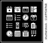 reminder icon. 16 reminder... | Shutterstock .eps vector #1169936968
