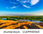 colorful beach at burqin... | Shutterstock . vector #1169940565