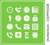 dial icon. 16 dial vector set.... | Shutterstock .eps vector #1169943328