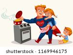 superhero dad colorful poster | Shutterstock .eps vector #1169946175