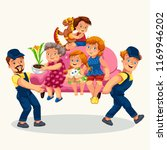 family moves colorful poster | Shutterstock .eps vector #1169946202
