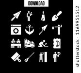 builder icon. 16 builder vector ... | Shutterstock .eps vector #1169951512