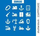 hook icon. 16 hook vector set....   Shutterstock .eps vector #1169951632