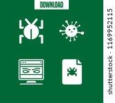 threat icon. 4 threat vector... | Shutterstock .eps vector #1169952115