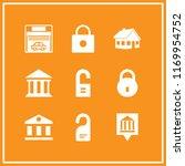entrance icon. 9 entrance... | Shutterstock .eps vector #1169954752