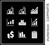increase icon. 9 increase... | Shutterstock .eps vector #1169956978