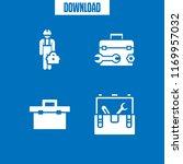 toolkit icon. 4 toolkit vector... | Shutterstock .eps vector #1169957032