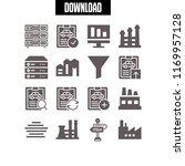 technician icon. 16 technician... | Shutterstock .eps vector #1169957128