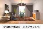 interior of the living room. 3d ...   Shutterstock . vector #1169957578