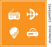 hit icon. 4 hit vector set.... | Shutterstock .eps vector #1169959492