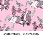 seamless pattern with a vintage ... | Shutterstock .eps vector #1169961082