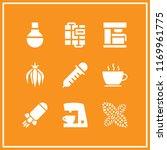 aroma icon. 9 aroma vector set. ...   Shutterstock .eps vector #1169961775