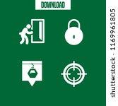 entrance icon. 4 entrance... | Shutterstock .eps vector #1169961805