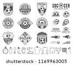 set of vector football  soccer  ... | Shutterstock .eps vector #1169963005