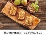 grilled blue cheese sandwich... | Shutterstock . vector #1169967622