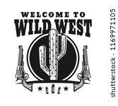 wild west vector emblem with... | Shutterstock .eps vector #1169971105