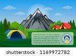 vector mountains camping... | Shutterstock .eps vector #1169972782