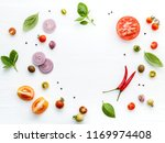 the ingredients for homemade... | Shutterstock . vector #1169974408