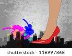woman with high heel stilleto... | Shutterstock .eps vector #116997868