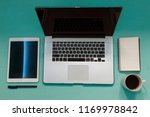 office view. notepad mock up.... | Shutterstock . vector #1169978842