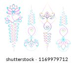 lotus and sacred geometry.... | Shutterstock .eps vector #1169979712