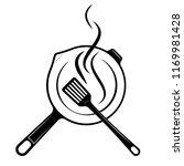logo for the menu or restaurant.... | Shutterstock .eps vector #1169981428