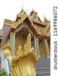 the golden castle in wat tha...   Shutterstock . vector #1169986072