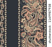 seamless paisley pattern in... | Shutterstock . vector #1169987938