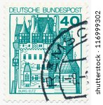 germany   circa 1977  a stamp... | Shutterstock . vector #116999302