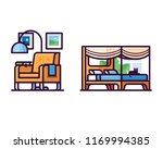 furniture filled outline icons | Shutterstock .eps vector #1169994385