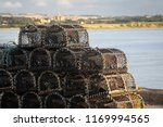 Lobster Traps Stacked In A...