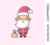 cute christmas santa claus... | Shutterstock .eps vector #1169994802