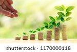 investment and saving money... | Shutterstock . vector #1170000118