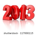 3d shiny new year number 2013 | Shutterstock . vector #117000115