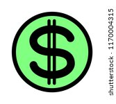 signs dollar money icon | Shutterstock . vector #1170004315