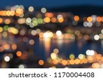 the lights of a night city in a ... | Shutterstock . vector #1170004408