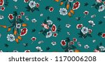 seamless floral pattern in... | Shutterstock .eps vector #1170006208