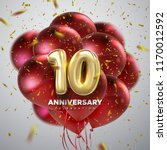 10 anniversary celebration.... | Shutterstock .eps vector #1170012592