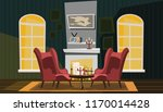 living room vector illustration  | Shutterstock .eps vector #1170014428
