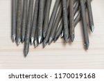 big nail spike carpenter  rusty ... | Shutterstock . vector #1170019168