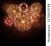 vector holiday festival golden... | Shutterstock .eps vector #1170019198