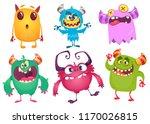 cartoon monsters. vector set of ... | Shutterstock .eps vector #1170026815