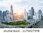 city highway overpass panoramic ... | Shutterstock . vector #1170027598