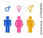 vector all gender restroom icon ... | Shutterstock .eps vector #1170028405