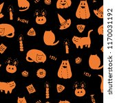 halloween vector seamless... | Shutterstock .eps vector #1170031192