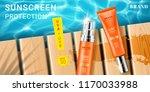 advertising for sunscreen cream ... | Shutterstock .eps vector #1170033988