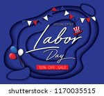labor day sale promotion... | Shutterstock .eps vector #1170035515