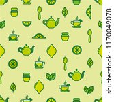 seamless outline pattern with... | Shutterstock .eps vector #1170049078