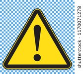 warning sign  triangle yellow... | Shutterstock .eps vector #1170071278