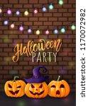 halloween background  cute...   Shutterstock .eps vector #1170072982